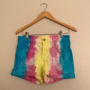 Handmade Tie Dye Old Navy Boyfriend Shorts 2